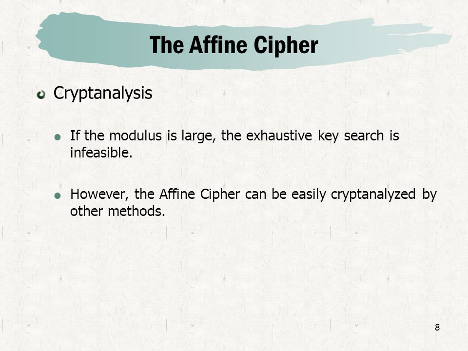 The Affine Cipher Cryptanalysis
