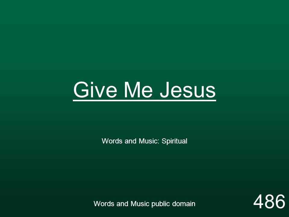 Words and Music: Spiritual Words and Music public domain