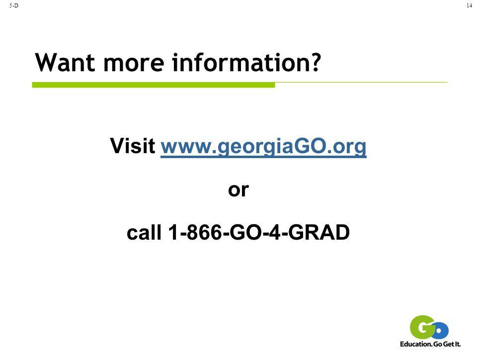 Visit www.georgiaGO.org