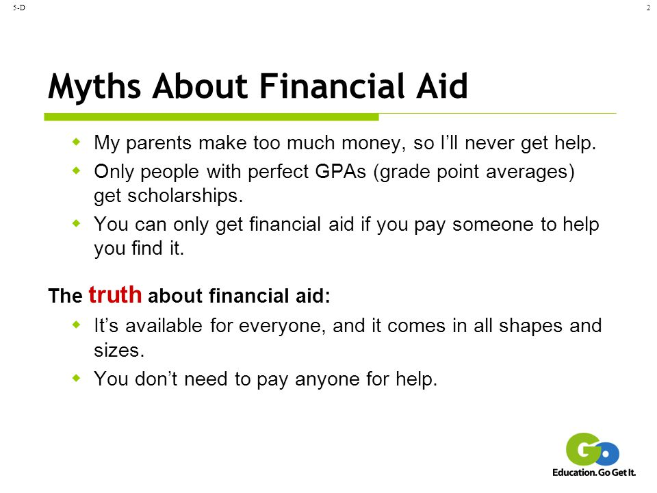 Myths About Financial Aid