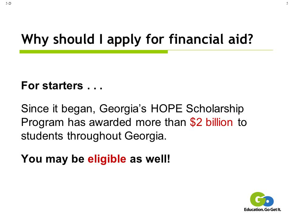 Why should I apply for financial aid