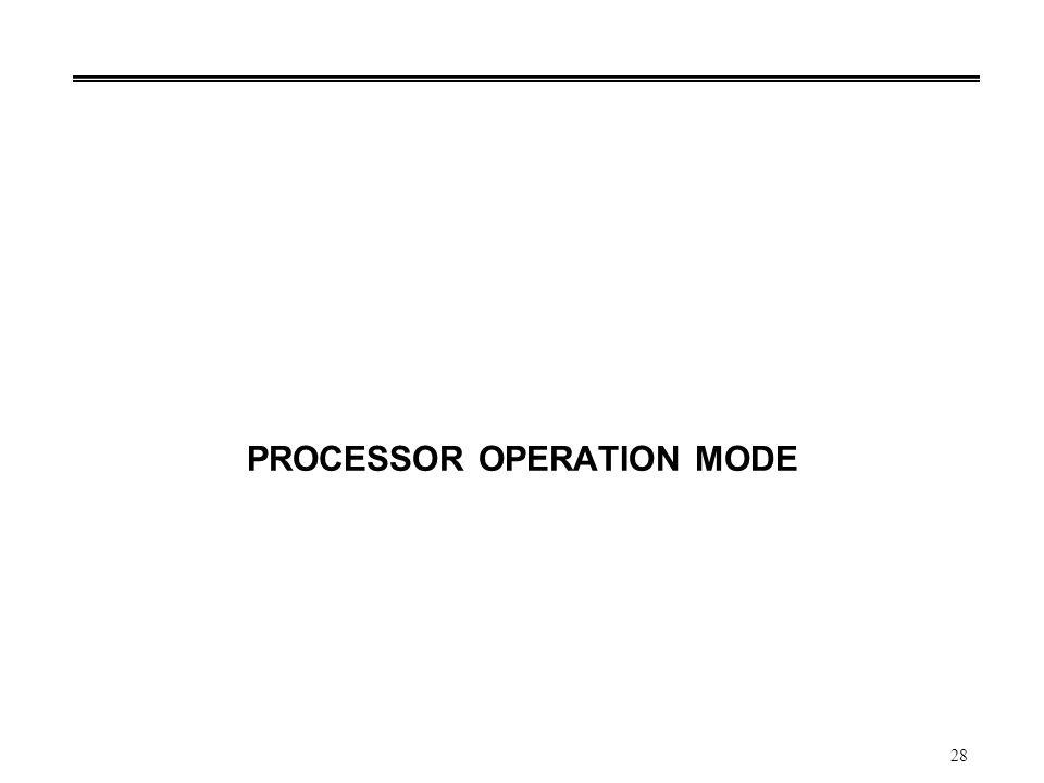 PROCESSOR OPERATION MODE