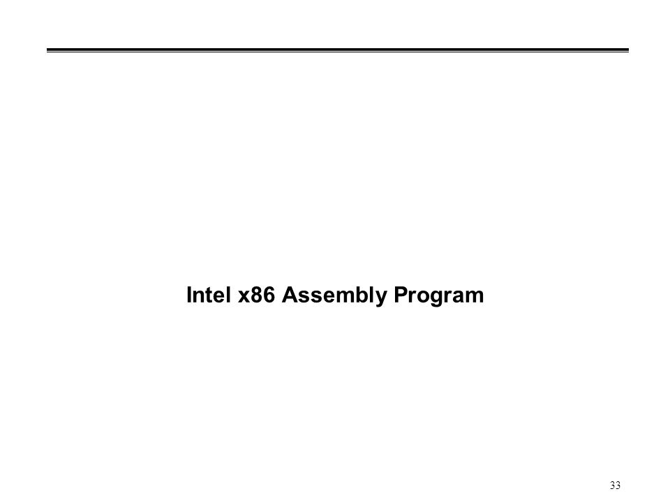 Intel x86 Assembly Program