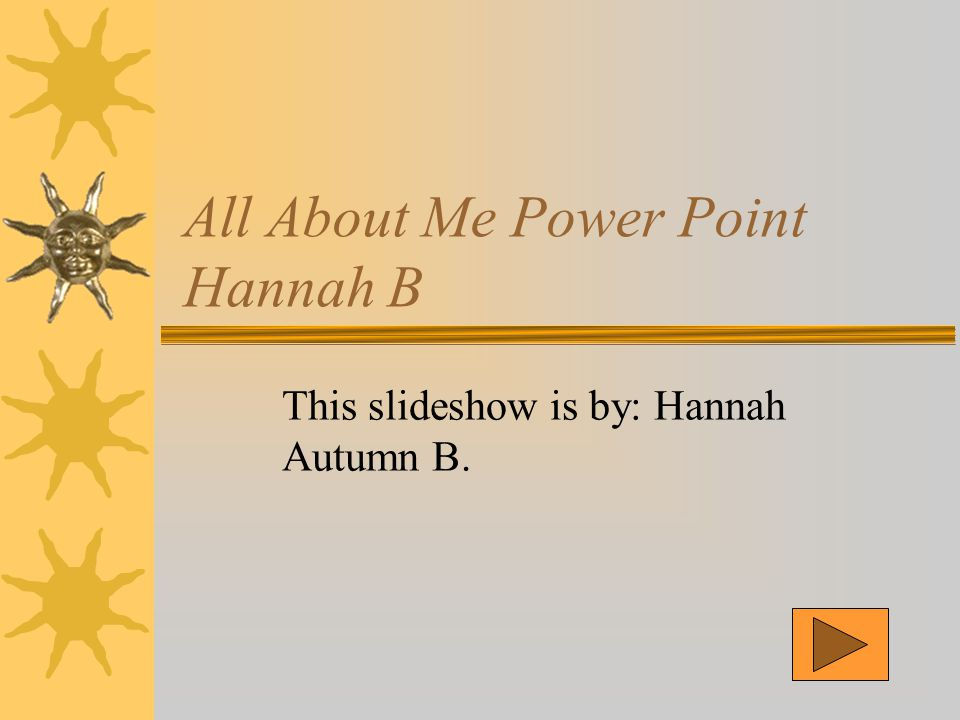 All About Me Power Point Hannah B