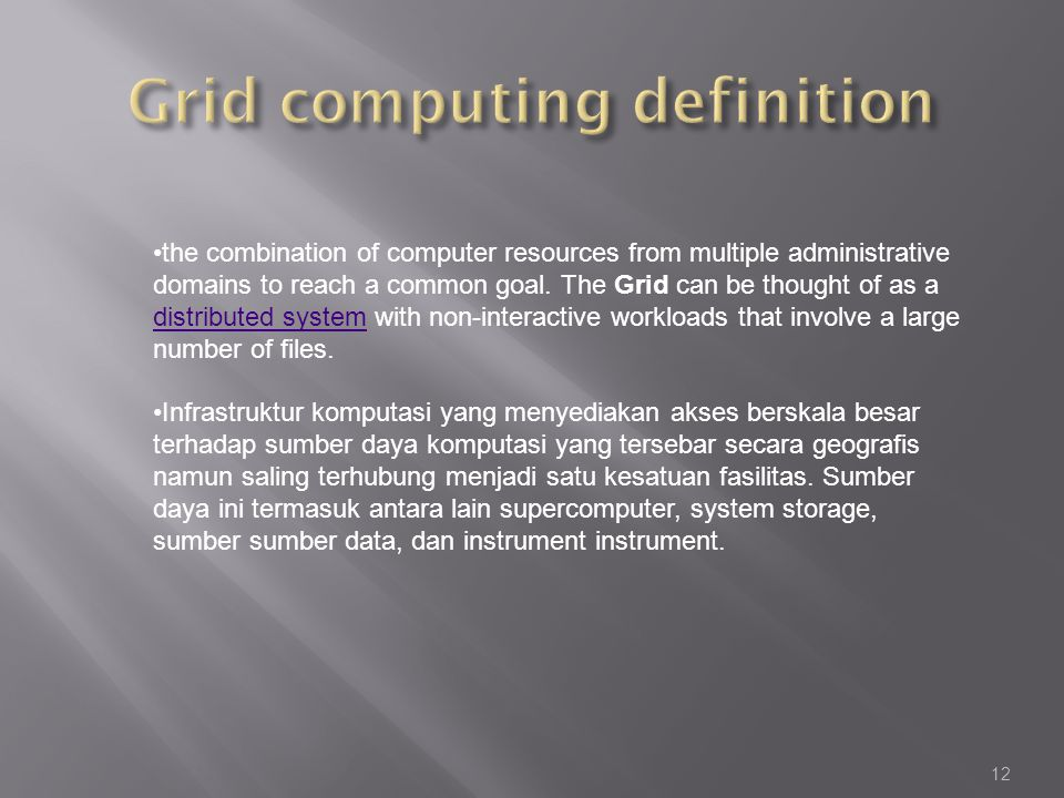 Grid computing definition