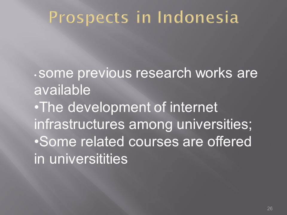 Prospects in Indonesia