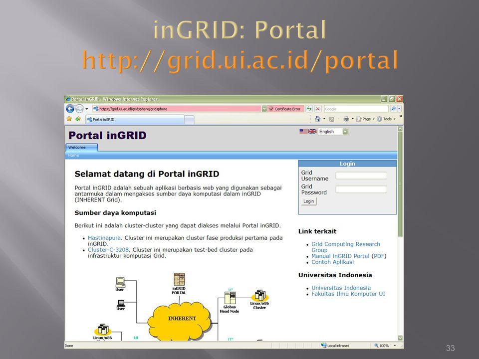 inGRID: Portal http://grid.ui.ac.id/portal