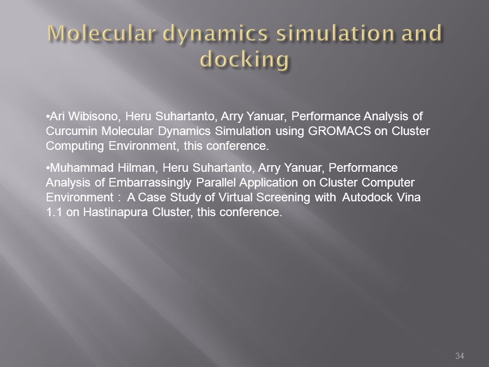 Molecular dynamics simulation and docking