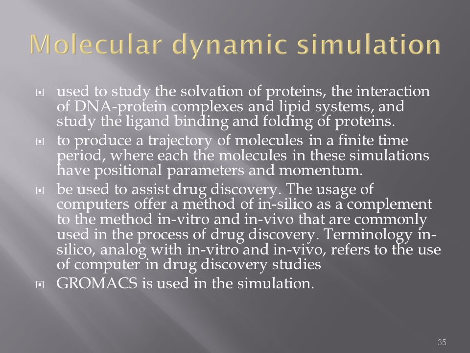 Molecular dynamic simulation