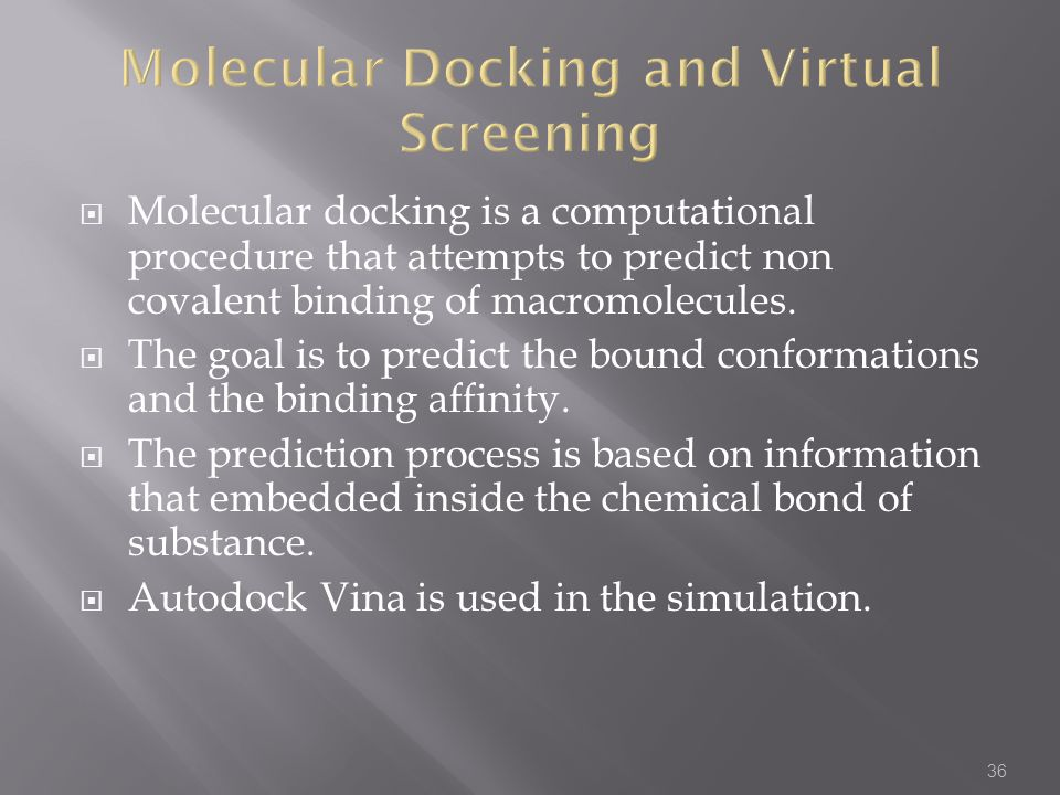 Molecular Docking and Virtual Screening