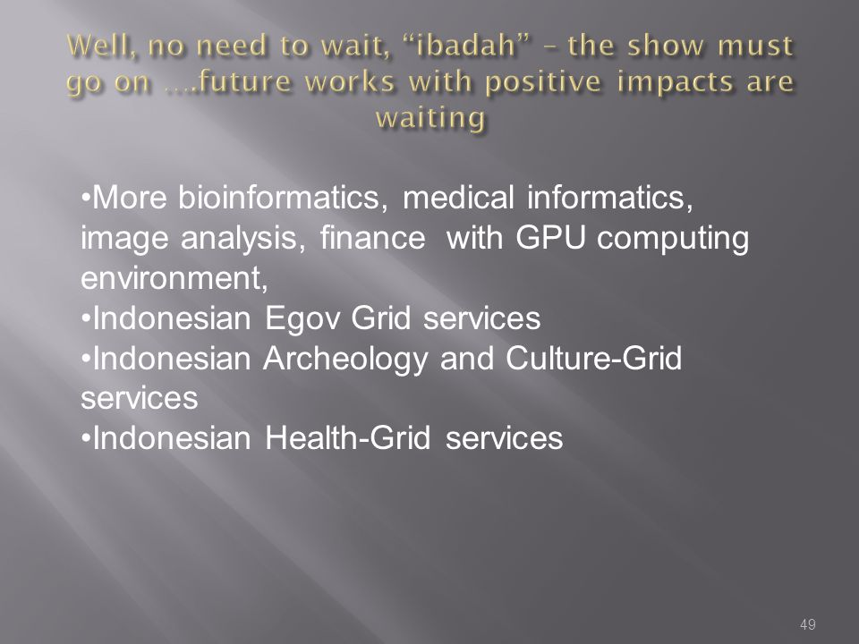 Indonesian Egov Grid services