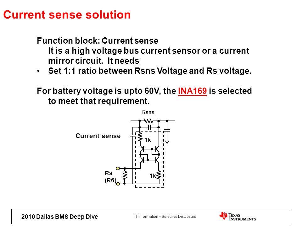 Current sense solution