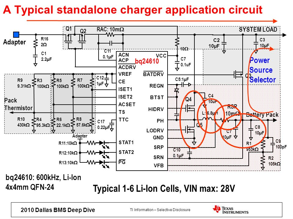 A Typical standalone charger application circuit