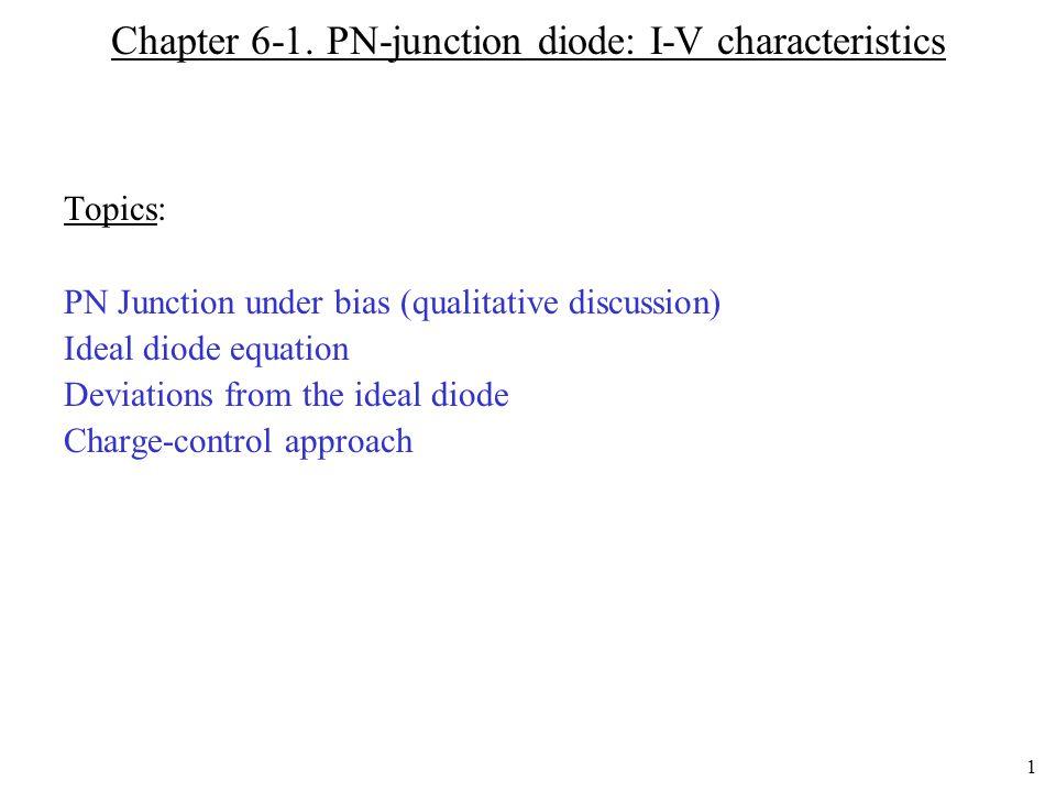 Chapter 6-1. PN-junction diode: I-V characteristics