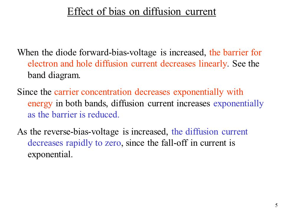Effect of bias on diffusion current