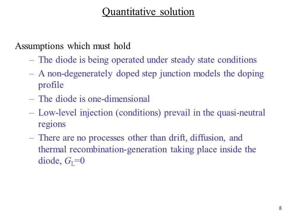 Quantitative solution