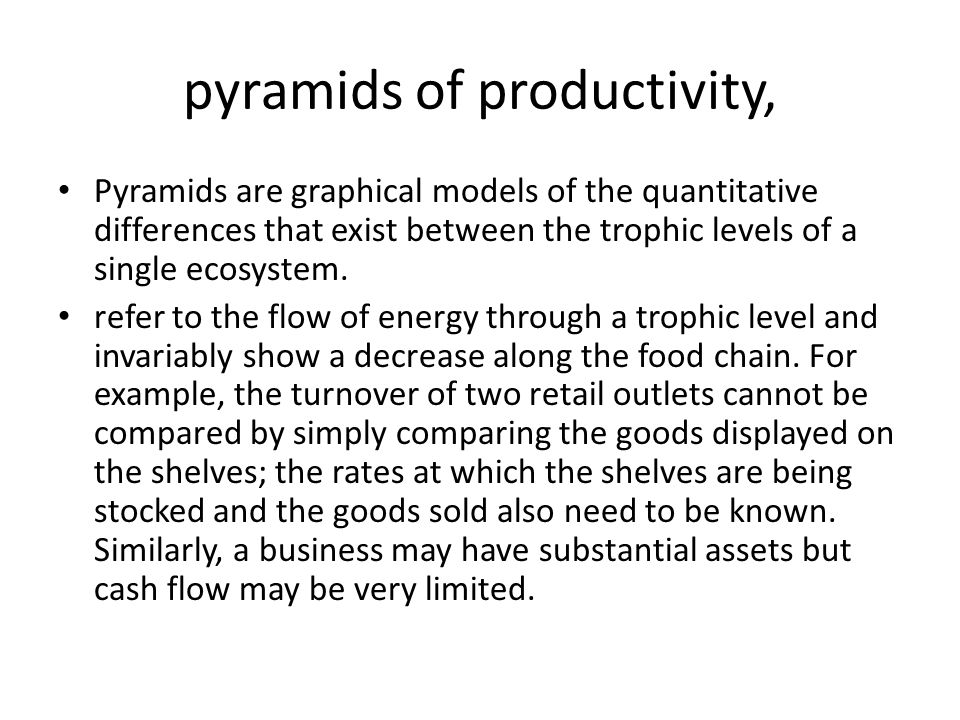 pyramids of productivity,