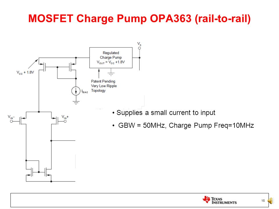 MOSFET Charge Pump OPA363 (rail-to-rail)
