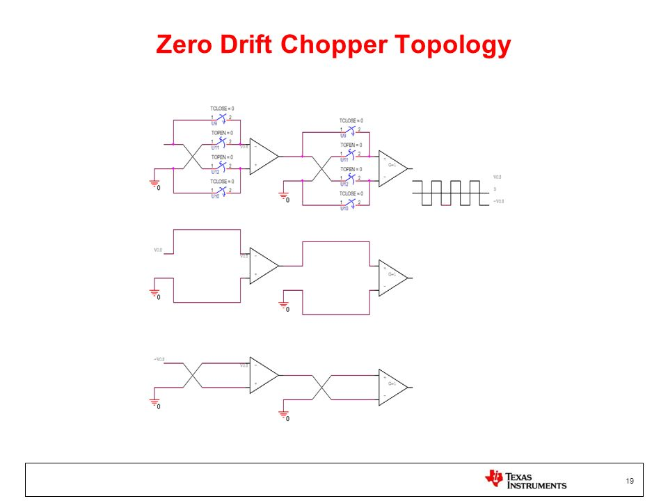 Zero Drift Chopper Topology