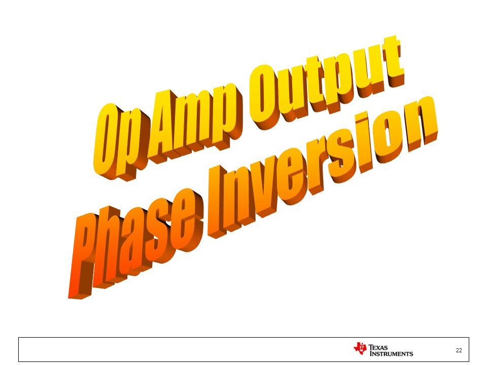 Op Amp Output Phase Inversion