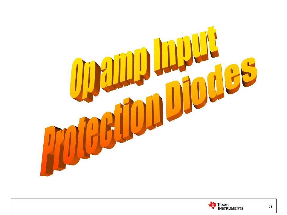 Op amp Input Protection Diodes