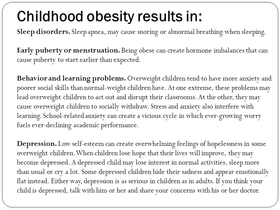 Childhood obesity results in: