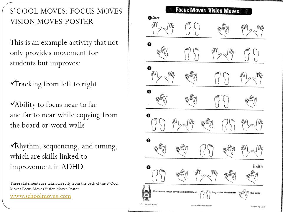 S'COOL MOVES: FOCUS MOVES VISION MOVES POSTER