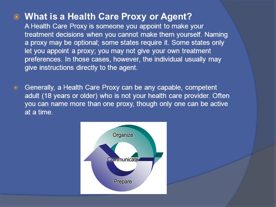 What is a Health Care Proxy or Agent