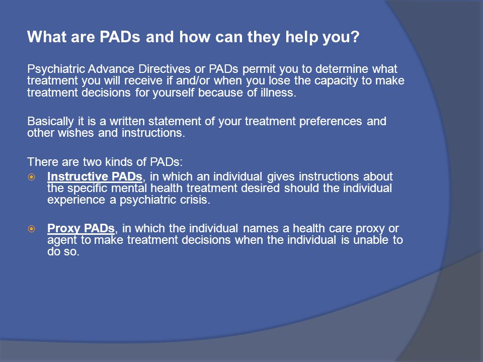 What are PADs and how can they help you