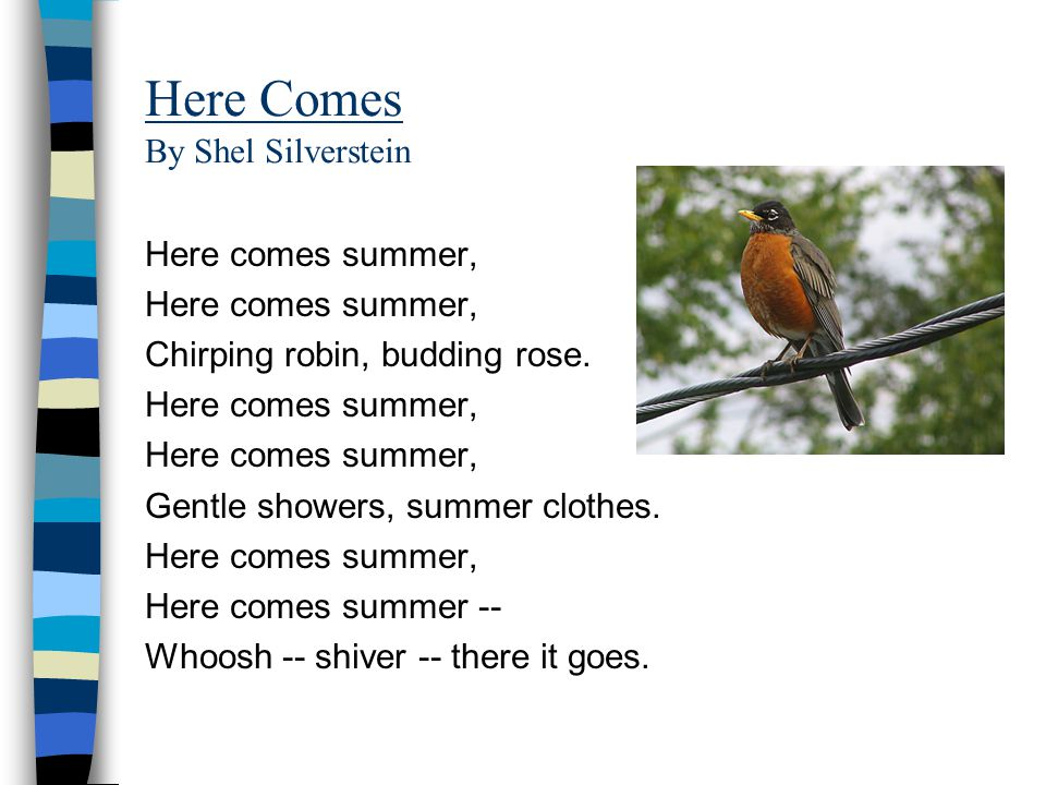 Here Comes By Shel Silverstein