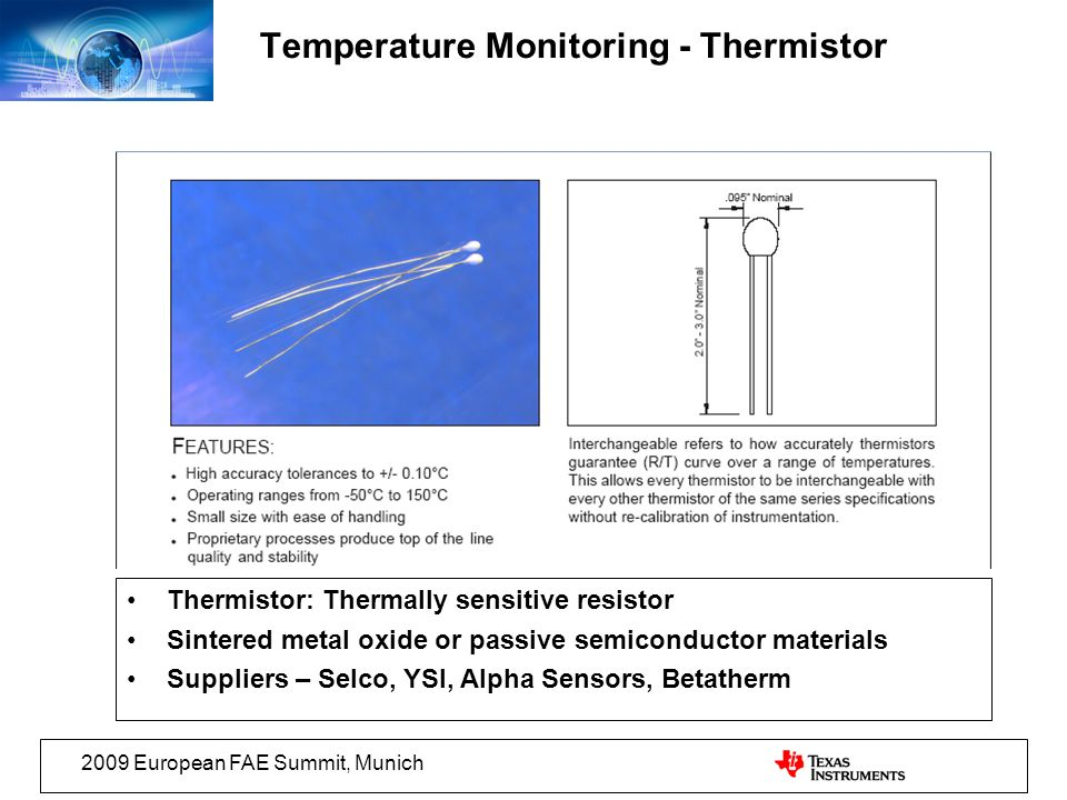 Temperature Monitoring - Thermistor