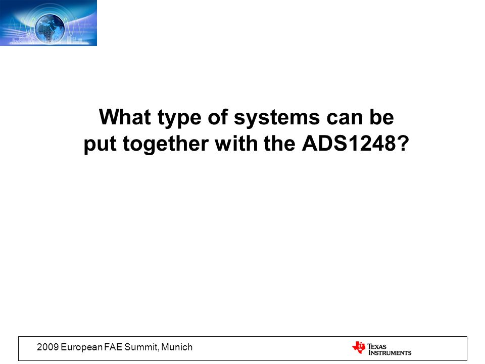 What type of systems can be put together with the ADS1248