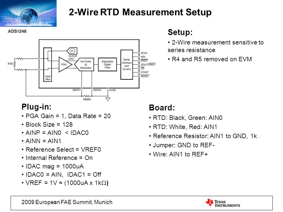 2-Wire RTD Measurement Setup