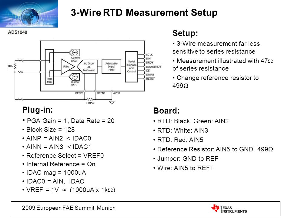 3-Wire RTD Measurement Setup