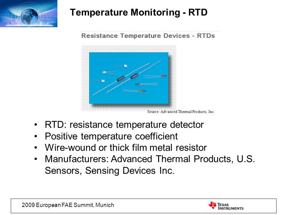 Temperature Monitoring - RTD