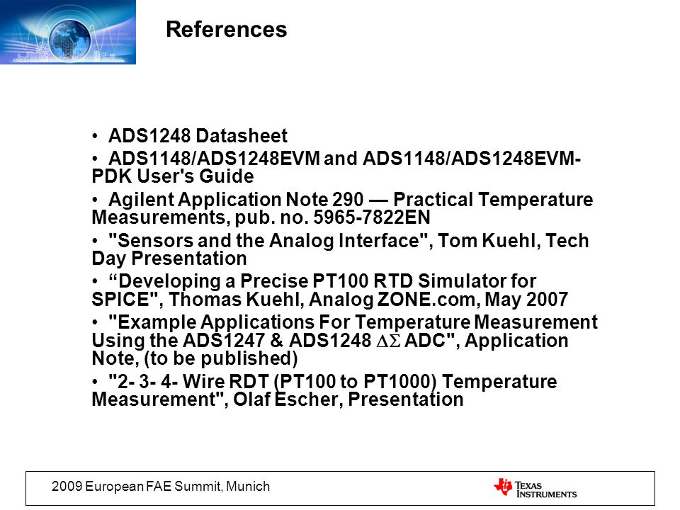 References ADS1248 Datasheet