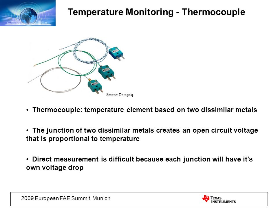 Temperature Monitoring - Thermocouple