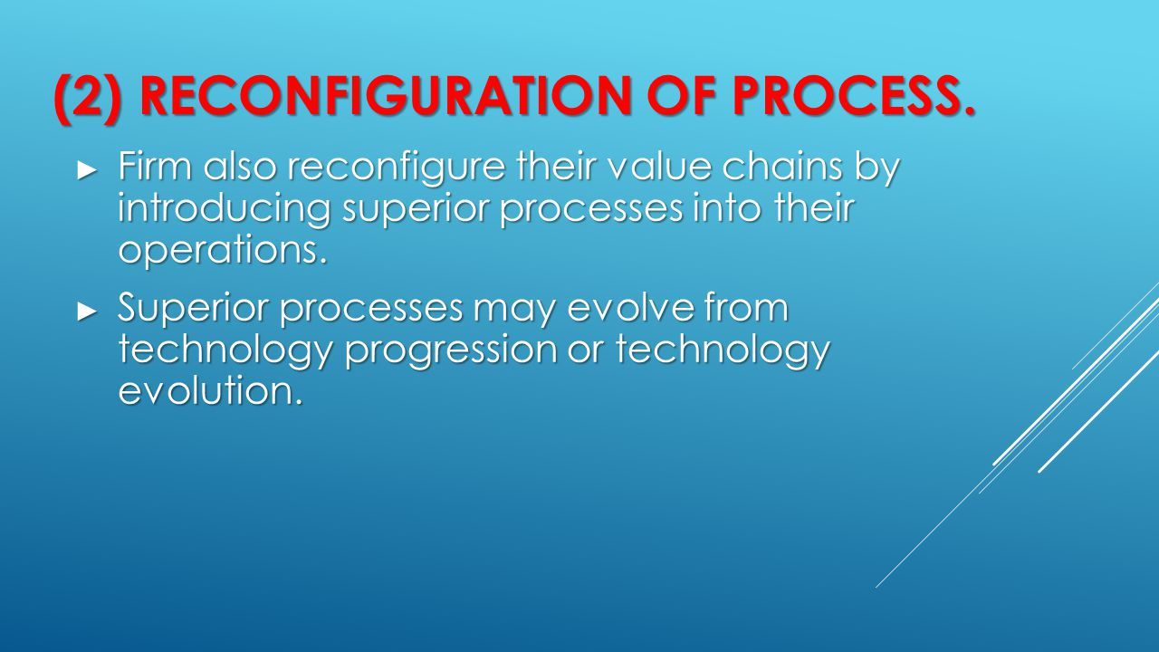 (2) Reconfiguration of process.