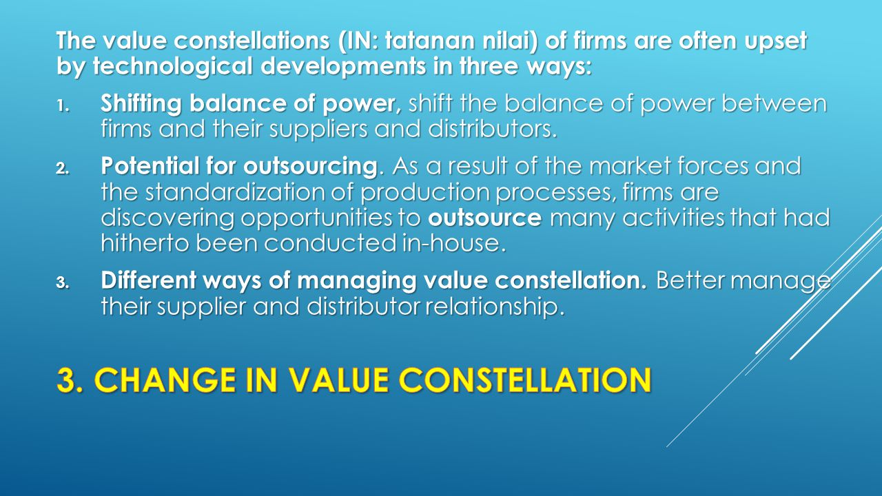 3. CHANGE IN VALUE CONSTELLATION