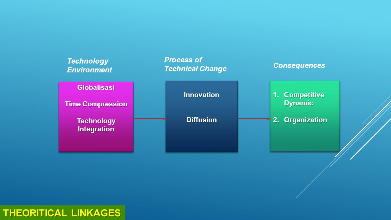 THEORITICAL LINKAGES Technology Environment Process of