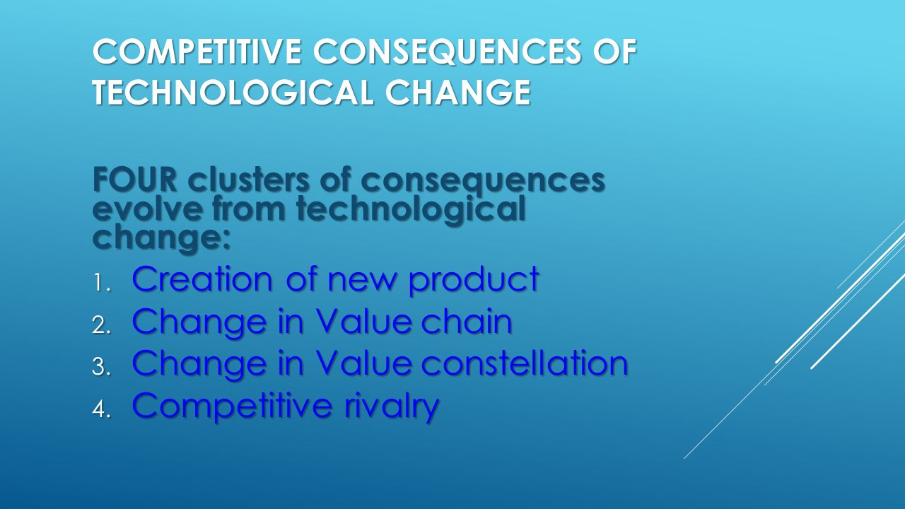 COMPETITIVE CONSEQUENCES OF TECHNOLOGICAL CHANGE