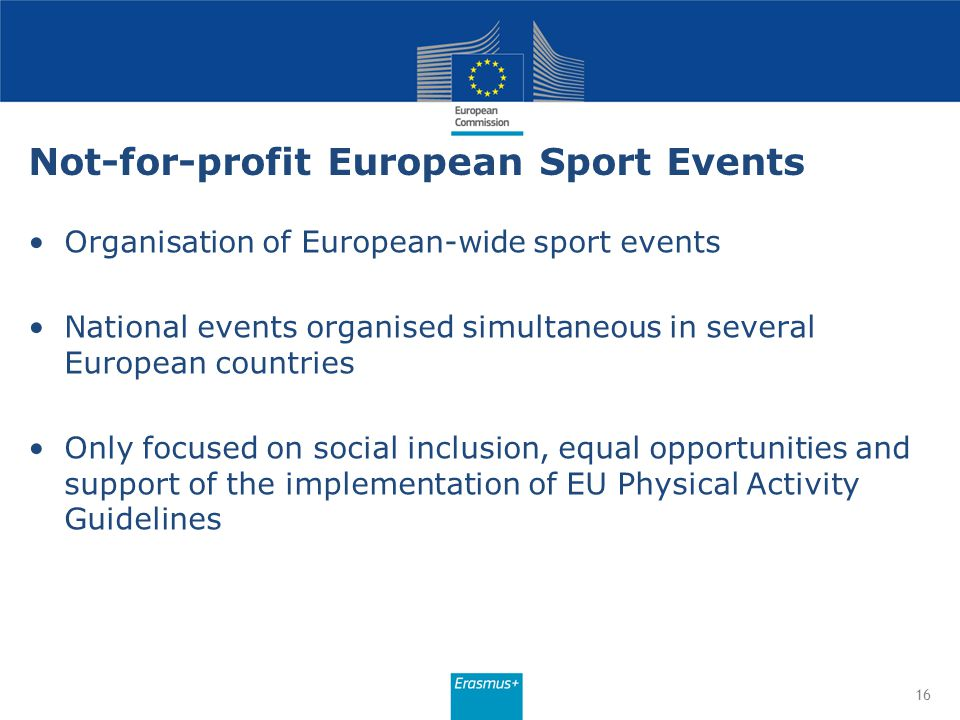 Not-for-profit European Sport Events