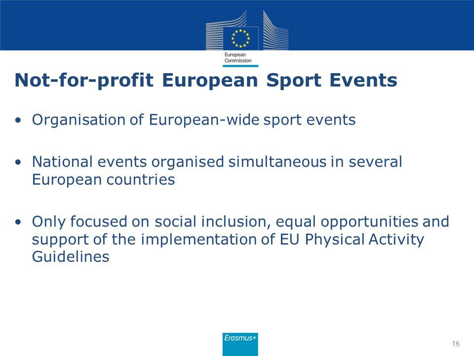 Not-for-profit European Sport Events