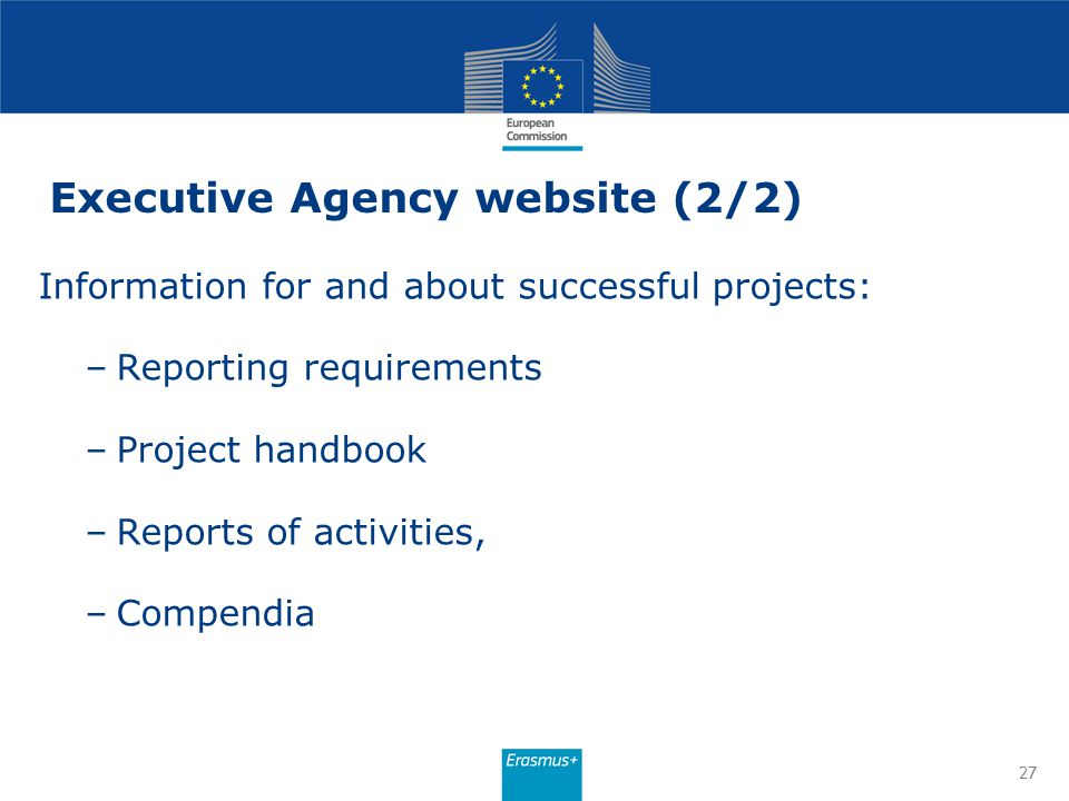 Executive Agency website (2/2)