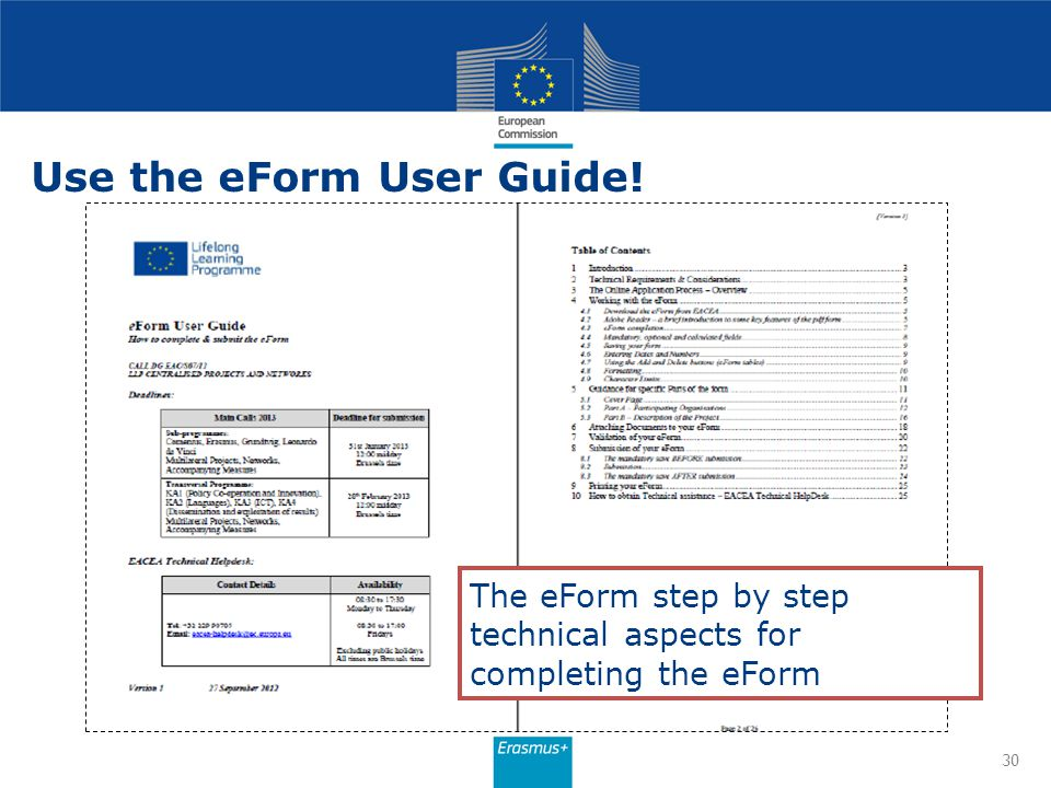 Use the eForm User Guide!