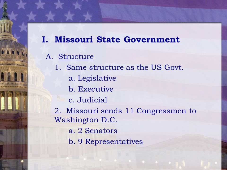 I. Missouri State Government