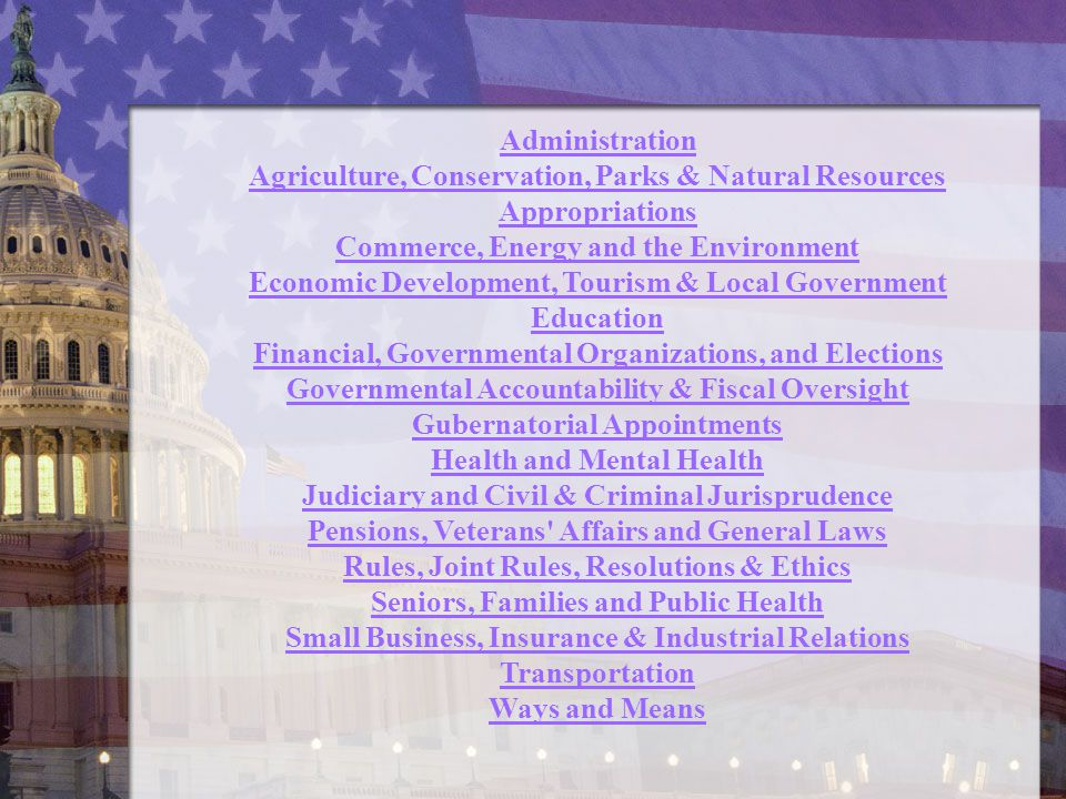 Agriculture, Conservation, Parks & Natural Resources Appropriations