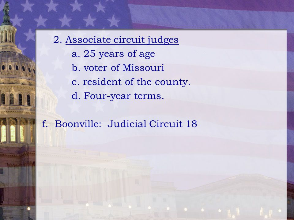 2. Associate circuit judges