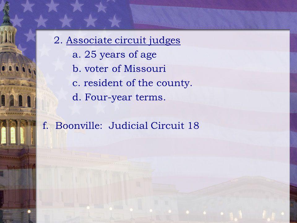 2. Associate circuit judges