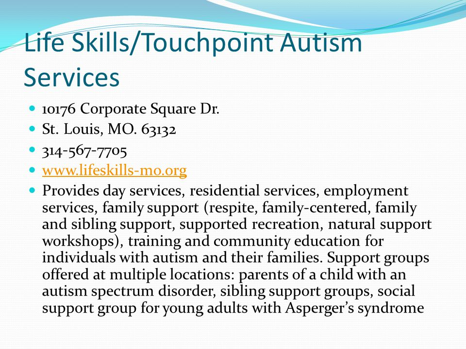 Life Skills/Touchpoint Autism Services
